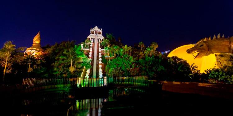 Siam Park Tenerife at Night